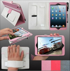 Fashionable multifunction leather case for new ipad mini