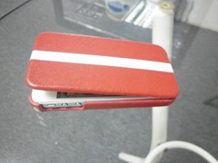 New fashion leather case for apple iphone4 use red and white