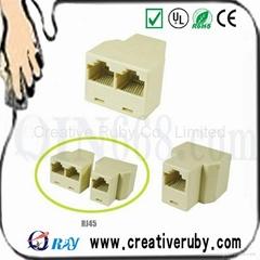 RJ45 Cat 5 6 LAN Ethernet Splitter Connector Adapter