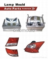 plastic auto head lamp cover mould