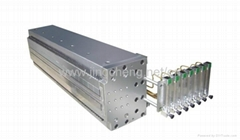 Plastic extrusion mould for hollow grid plate