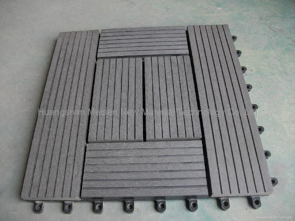 Wpc decking tiles edt 1 2 3 4 5 6 meisen china for Wpc decking