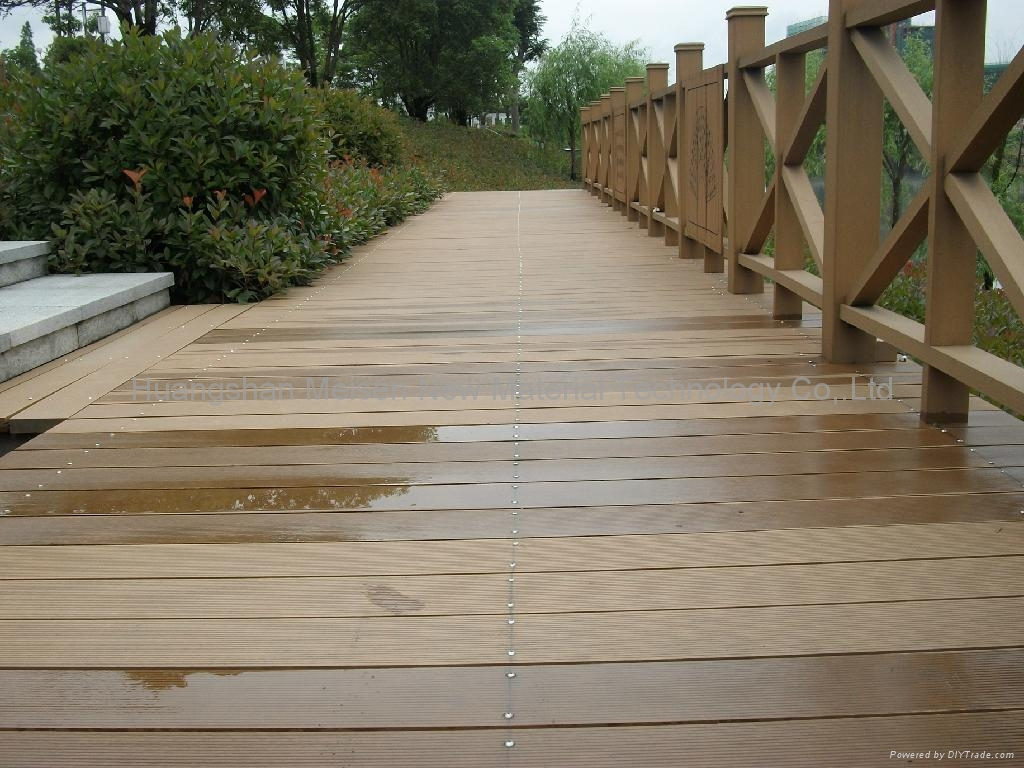 Low cost wpc patio decks ms145k25a b meisen china for Low price decking