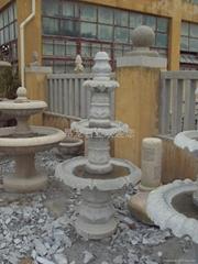 昂龍石業G603 三層噴水池