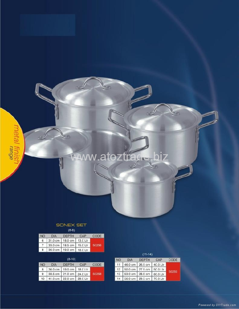 ALUMINIUM COOKWARE - METAL FINISH - SONEX,SAFFRON,MAJESTIC,KITCHEN ...