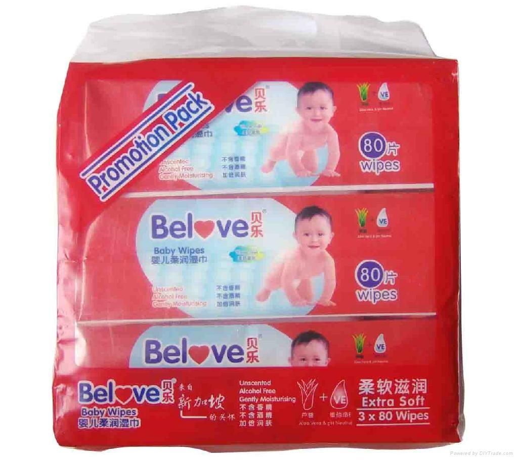 Belove Baby Wipes 80Wipes 5