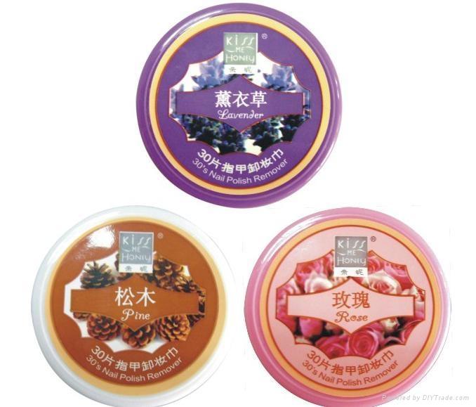 Kiss Me Honey Nail Polish Remover Wipes 30Sheets (Lavender/Pine/Rose)  1