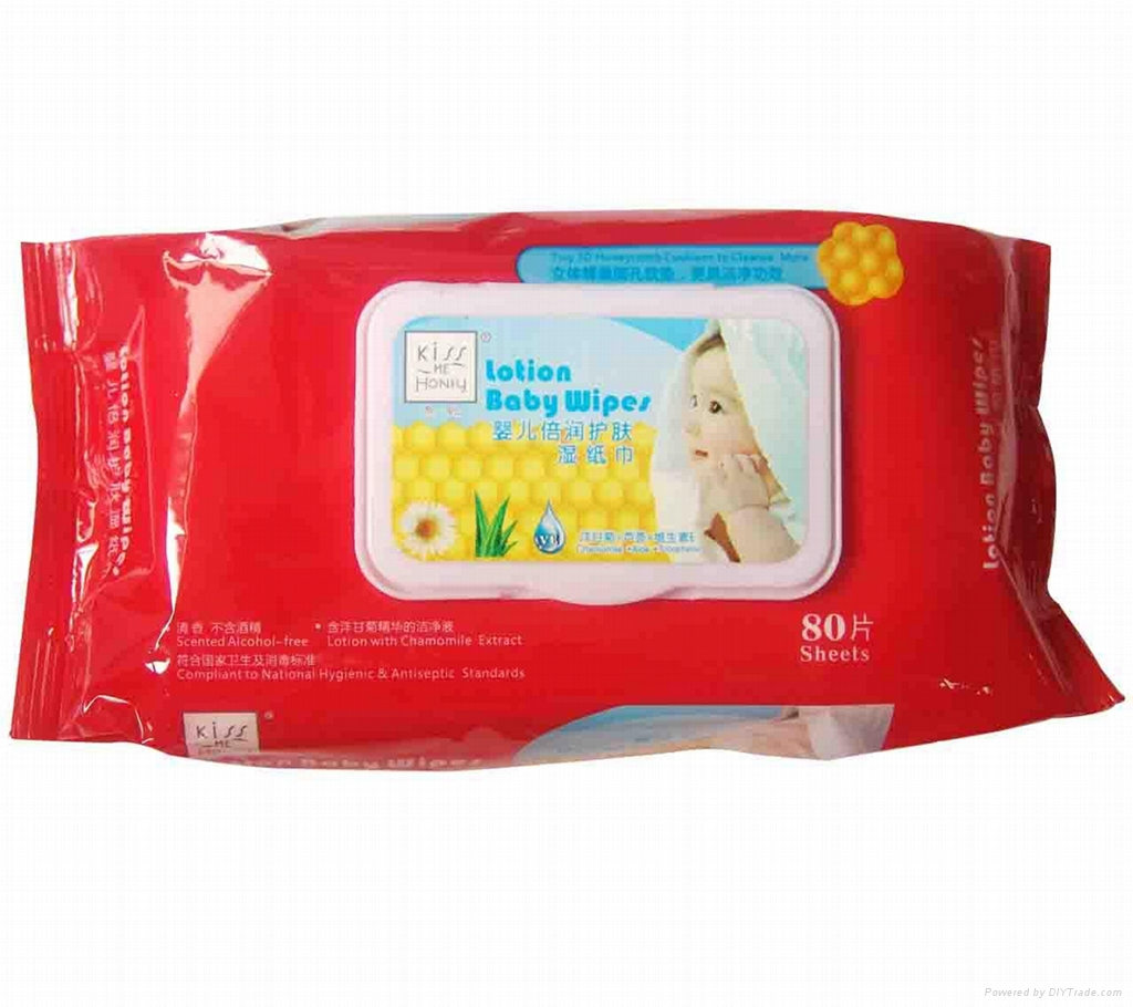 Kiss Me Honey Lotion Baby Wipes(Scented)80Sheets  3