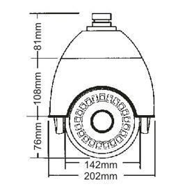 4.5 inch mini size high speed camera with SONY10X zoom camera IR 60-80M 3