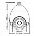 4.5 inch mini size high speed camera with SAMSUNG 10X zoom camera IR 50-70M 4