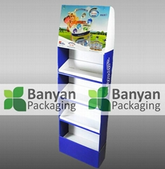 Corrugated POP paper display stand