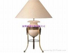 Translucent Stone Panels Marble Lamp