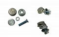 Anti-theft License Plate Fixing Device (Bolts and Nuts) 2
