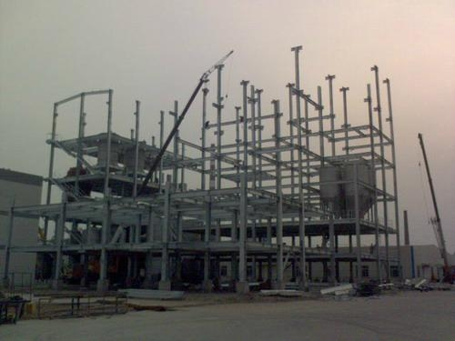 Steel Frame Work : Steel frame work for petrol chemical industry