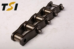 Heavy duty cranked link transmission chains