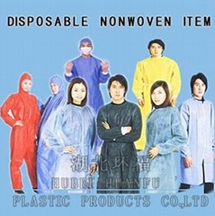 Disposable Nonwoven isolation gown