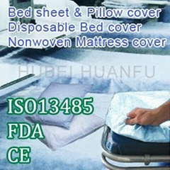 Disposable nonwoven bed cover