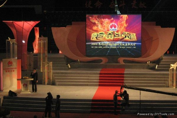 P6 indoor stage background LED video display screen 1