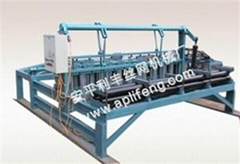 Hydraulic mining mesh knitting machine