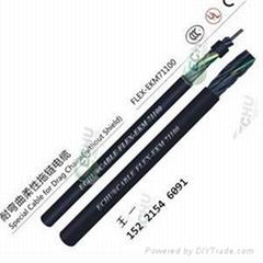 耐弯曲柔性单护套拖链电缆