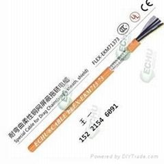 耐弯曲柔性单护套屏蔽拖链电缆