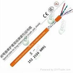 耐弯曲单护套屏蔽双绞拖链电缆