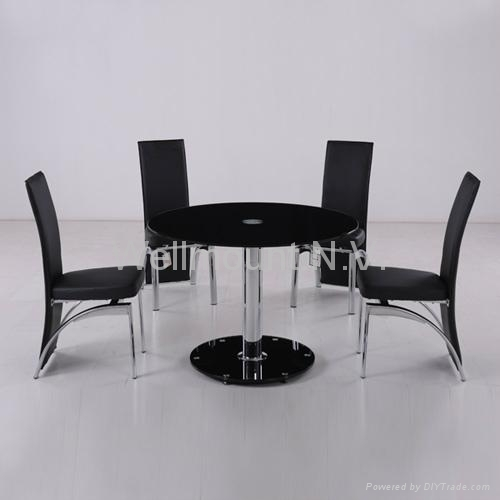 New Black Tempered Glass Dining Table with 6 Stylish PU  : NewBlackTemperedGlassDiningTablewith6StylishPULeatherZChairsSets from www.diytrade.com size 500 x 500 jpeg 48kB