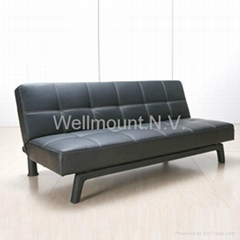New Beautiful Black Faux Leather PU Sofa Bed & Sofabed