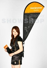 Promotional Backpack  Advertising Flag banner stand