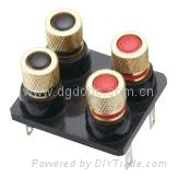 audio accessory brass terminal connector binding post 1