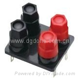 audio accessory brass terminal connector binding post 2