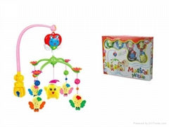 Wind up baby bed rattle