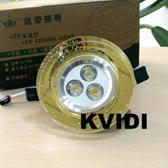 KD-T1666 Crystal Ceiling Spot Lamp 3W 4 Kinds of Color