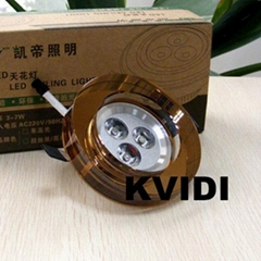 KD-T1661 Crystal Ceiling Spot Lamp 3W 6 kinds of color