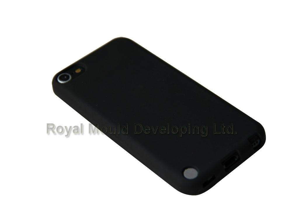 black silicone case for ipod touch 2