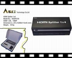 1x4工程机 HDMI分配器