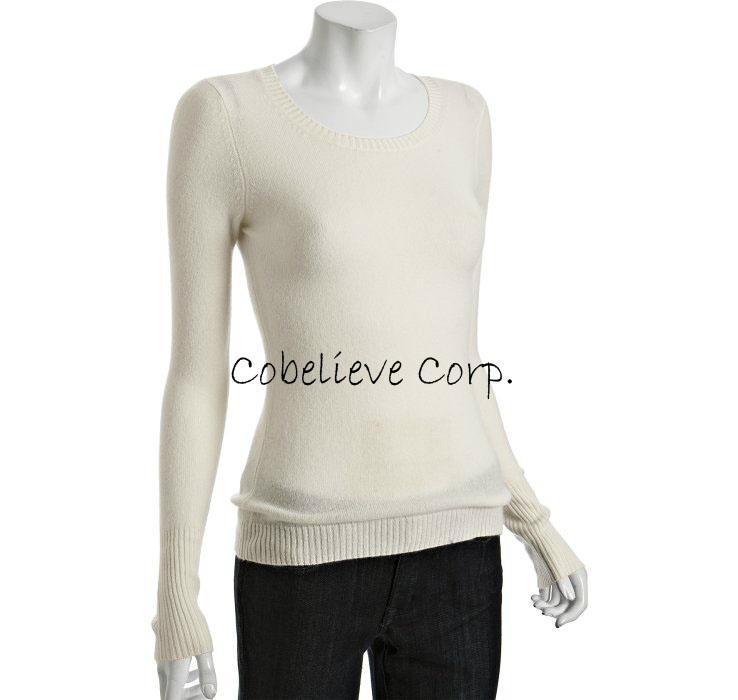coral cashmere sleeve crewneck sweater 3