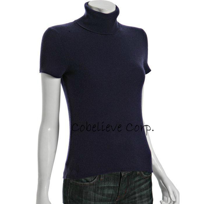coral cashmere sleeve crewneck sweater 4