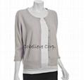 coral cashmere sleeve crewneck sweater 5