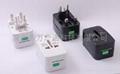 伸缩型全球通多功能转换插头插座