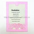 2012 hot sale wedding invitation card MOQ 600 pcs with various colors 1