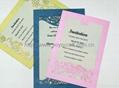 2012 hot sale wedding invitation card MOQ 600 pcs with various colors 2