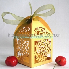 Laser cut various designs of wedding gift box for party favor