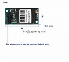 Set top box embedded wifi module with USB pin connector and antenna