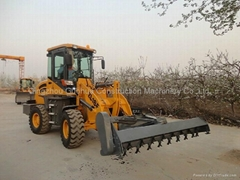new front wheel loader with hay mower