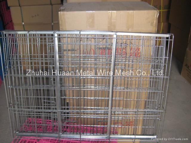 Foldable Metal Wire Dog Cage 1