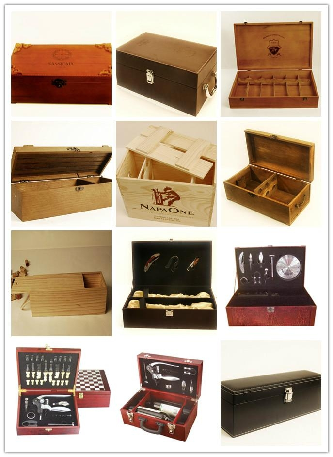 wooden gift box for wine bottle - JMWB008 - JM (China Manufacturer ...