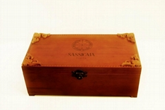 old real wood box for wine(JMWB011)