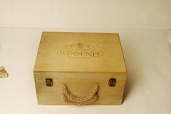 best seller gift wine box, natural wooden ,original rectangle