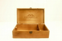 Beautiful recyclable wooden wine gift box